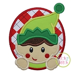 Elf Boy Oval Applique
