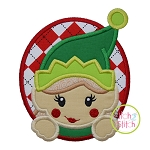 Elf Girl Oval Applique