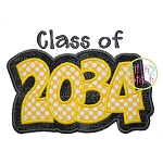 Class of 2034 Double Applique