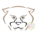 Cougar Mascot Embroidery