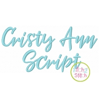 Cristy Ann Script Embroidery Font