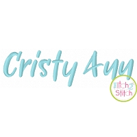 Cristy Ann Embroidery Font