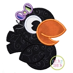 Crow Girl Applique