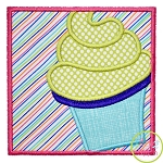 Cupcake Box Applique