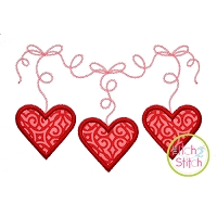 Dangling Hearts Applique