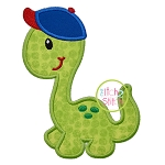 Dino in Ball Cap Applique