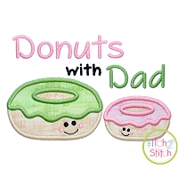 Donuts with Dad Applique