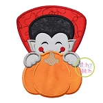 Dracula Pumpkin Peeker Applique