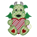 Dragon With Heart Applique