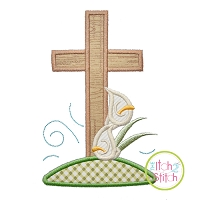 Easter Cross Applique