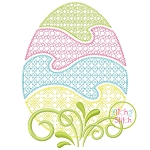 Easter Egg Motif Embroidery