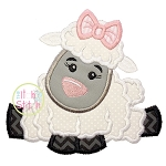 Easter Lamb Girl Applique