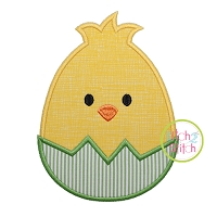 Egg Shaped Chick Boy Applique