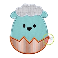 Egg Shaped Lamb Boy Applique