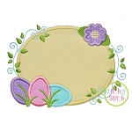 Egg Trio Frame Applique