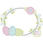 Egg Trio Frame Motif Embroidery