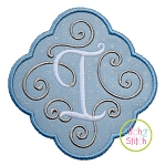 Elegant Scroll Frame Applique