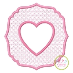Embossed Heart Embroidery
