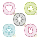 Embossed Embroidery Design Set 1