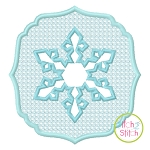 Embossed Snowflake Embroidery