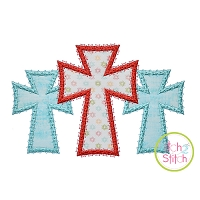 Fancy Cross Trio Applique