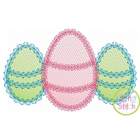 Fancy Egg Trio Sketch Embroidery