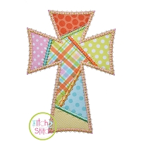 Fancy Patchwork Cross Applique