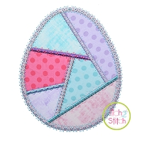 Fancy Patchwork Egg Applique
