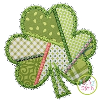 Fancy Patchwork Shamrock Applique
