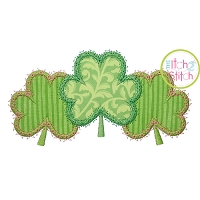 Fancy Shamrock Trio Applique