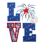 Fireworks LOVE Applique Design
