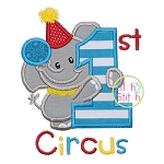 First Circus Elephant Applique