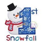 First Snowfall Snowman Applique