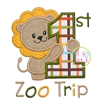 First Zoo Lion Applique