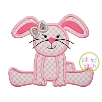 Floppy Bunny Girl Applique
