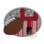 Football Goal Post Frame Applique