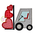 Forklift Hearts Applique