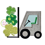 Forklift Shamrocks Applique