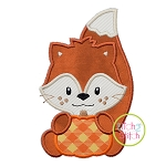 Fox with Pumpkin Boy Applique
