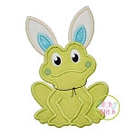 Frog Bunny Ears Boy Applique