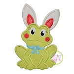 Frog Bunny Ears Girl Applique