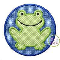 Frog Circle Patch Applique