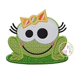 Frog Girl Applique