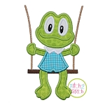 Froggie in the Swing Boy Applique