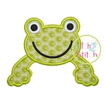 Frog Monogram Topper Applique