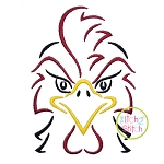 Gamecock Mascot Embroidery