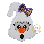 Ghost Face Girl Applique