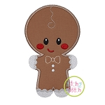 Fancy Gingerbread Boy Applique