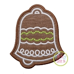 Gingerbread Cookie Bell Applique