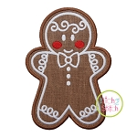 Gingerbread Cookie Boy Applique